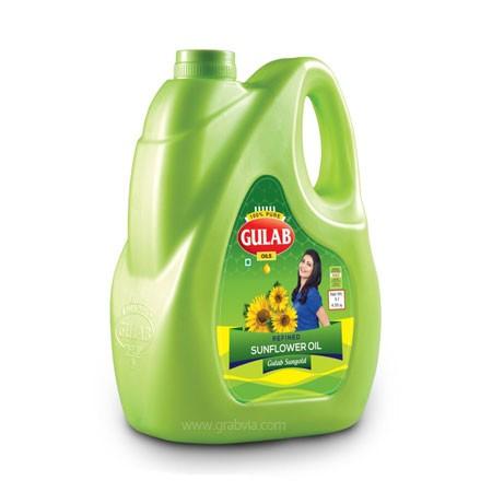 Gulab Refined Sunflower Oil (गुलाब सनफ्लॉवर ऑइल) 5 ltr (Jar)