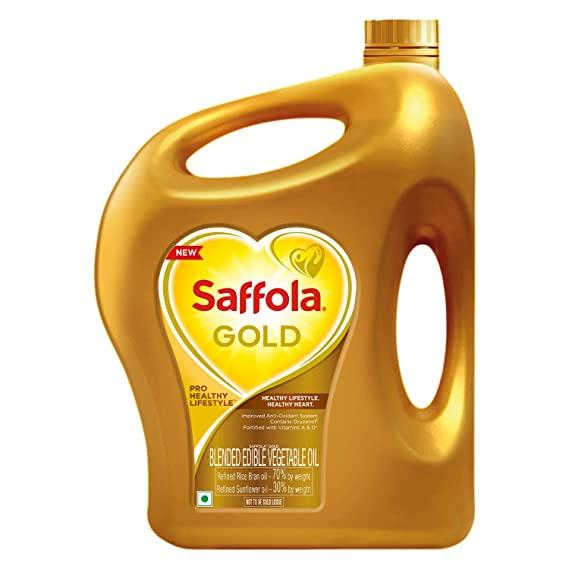 Saffola Gold - Pro Healthy Lifestyle Edible Oil - 5 ltr (Jar)