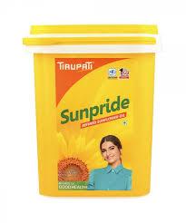 Tirupati Sunpride Sunflower Oil 15 Ltr Bucket (सूरजमुखी तेल)