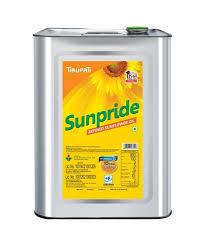 Tirupati Sunpride Sunflower Oil 15 ltr (Tin)