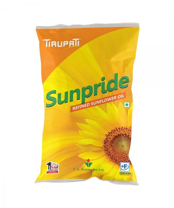 Tirupati Sunpride Sunflower Oil 1 ltr (Pouch)