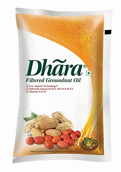 Dhara Groundnut Oil ( Singtel - धारा मूंगफली तेल) - 500 ml