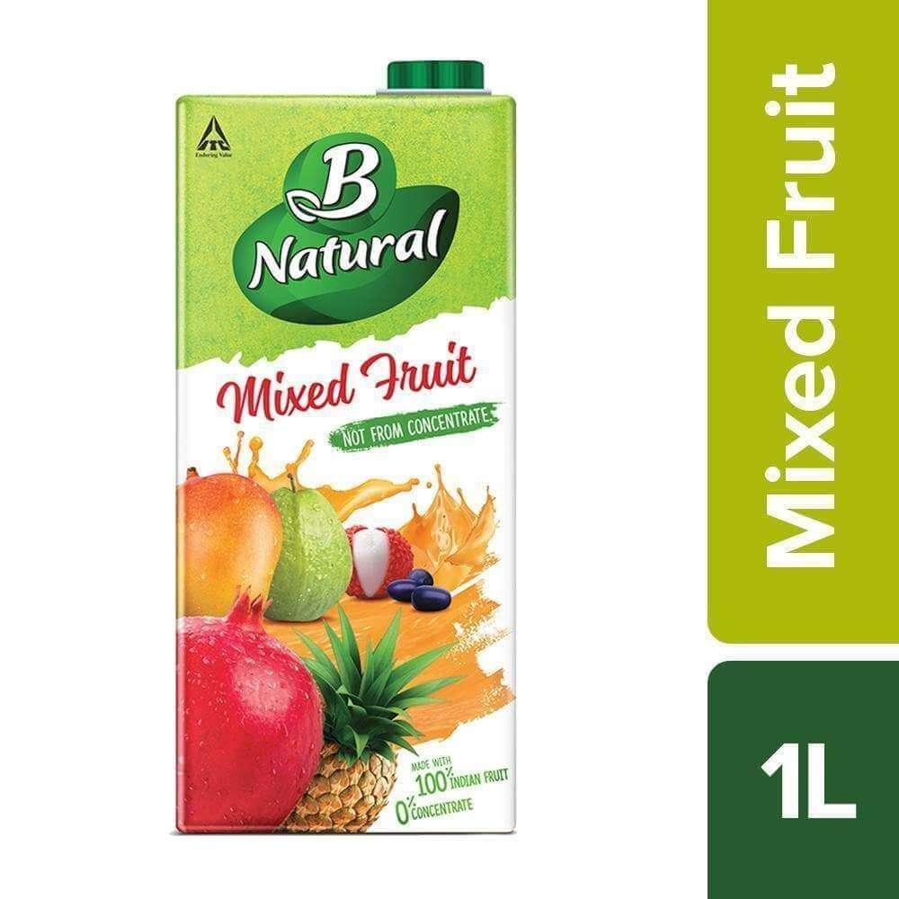 B Natural Mix Fruit Juice 1 Ltr (फ्रूट जूस )