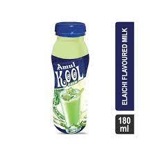 Amul Kool Elaichi Flavored Milk 180 Ml (अमूल कूल इलाइची फ्लेवर्ड मिल्क)