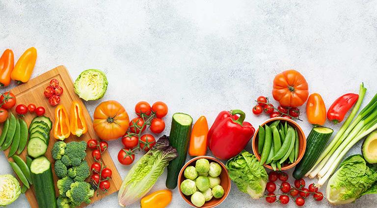 D. K. S. Vegetables Background