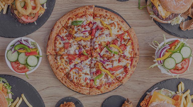Green Jalapeno Pizza Background