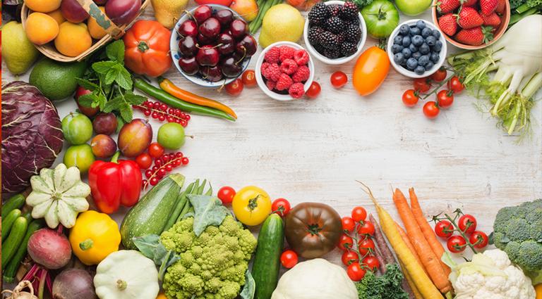 Everfresh Vegetables & Fruits Background