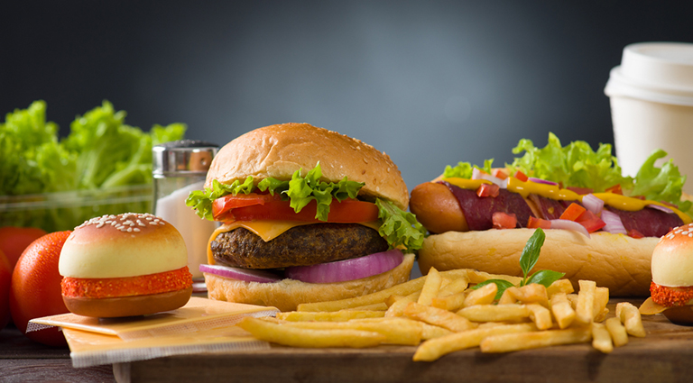 Junk Food Cafe Background