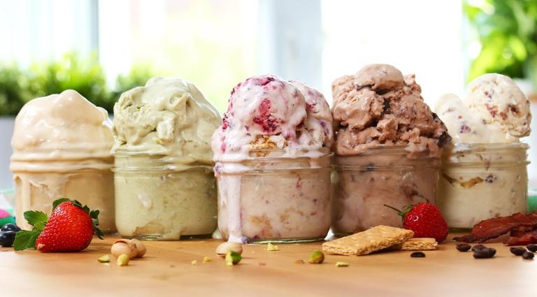 Tender Fresh Ice Creams Background