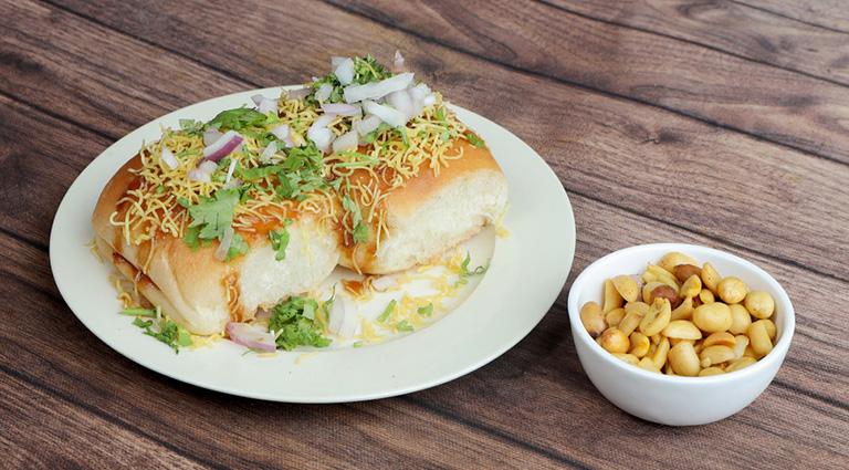 Balaji Snacks And Pori Bhaji Corner Background