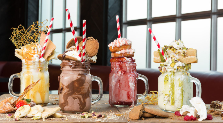 Delicious Waffles, Shakes & More Background