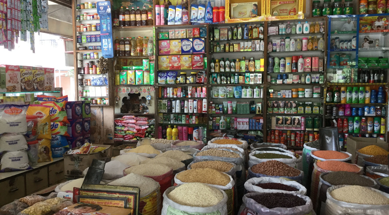 Om Satyam Supermarket Background