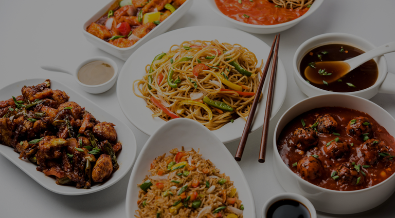 The Chinese Food Background