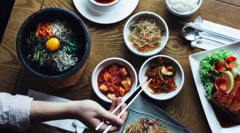 Sun & Moon Korean Restaurant Background