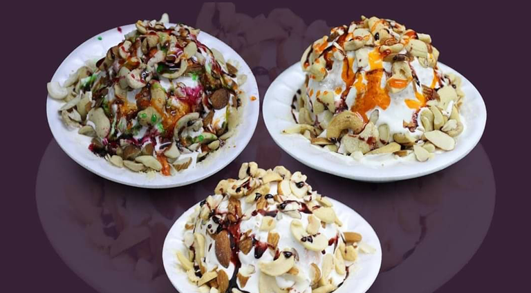 Jay Bhavani Dryfruit Dish Gola Background