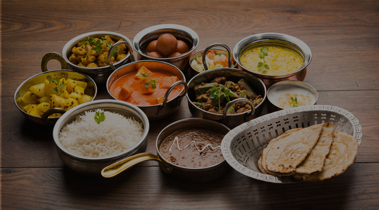 Krishna Kathiyawadi Meal Background