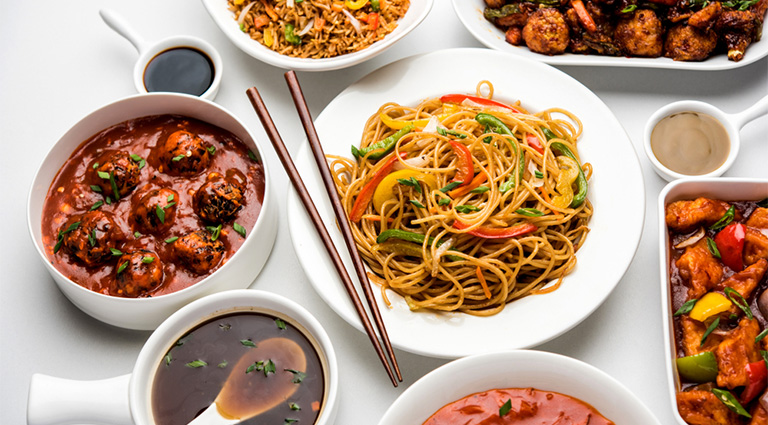 Chinese Food Factory Background