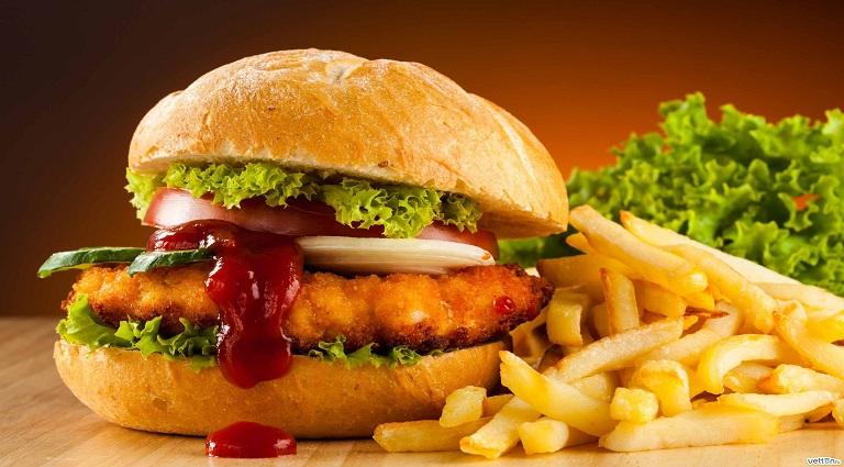 Cheesy Bite Fast Food Background