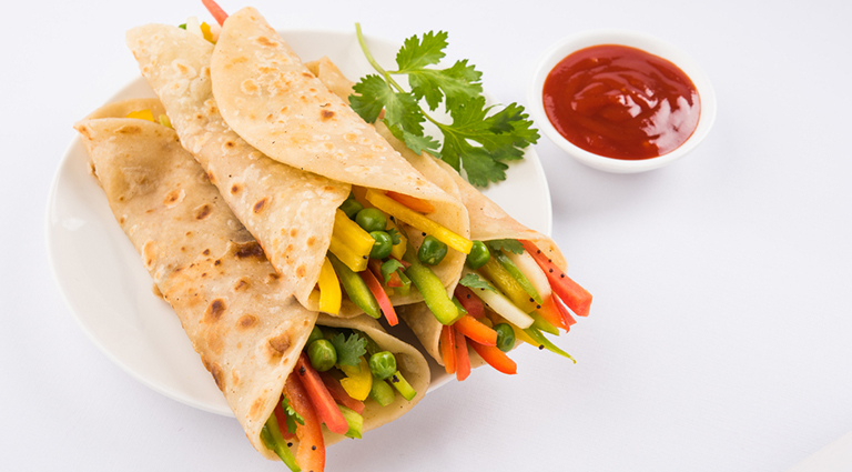 Roll & Paratha House Background