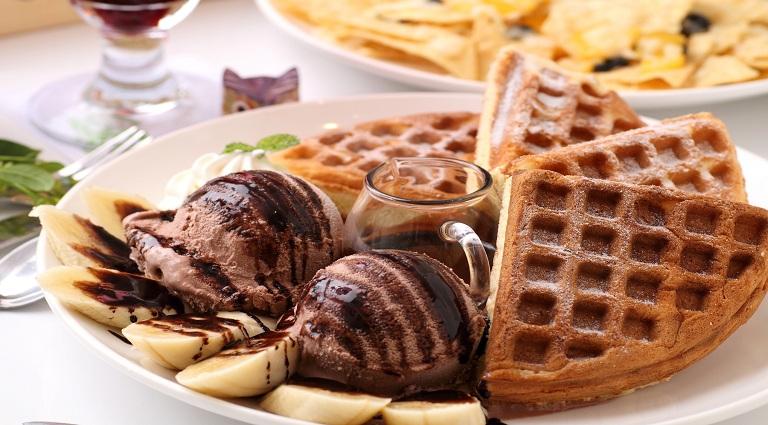 Holla Holla Waffles Background