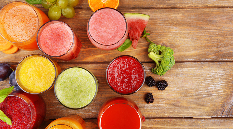 Authentic Juice And Snacks Background