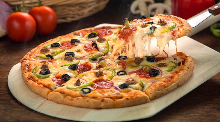 Lucky Yummy Pizza Background