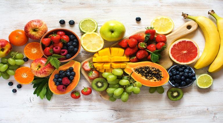 Ganesh Fruits Stole Background