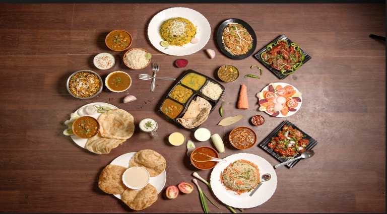 Veg Curries Of India Background