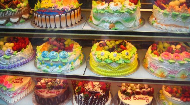 Yummy Bites Cake Shop Background