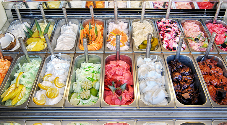 Dora's Ice Cream Waffle & Milkshake Background