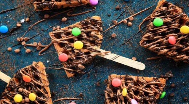 Candy Waffle Background
