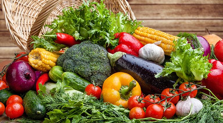 Famous Fresh Vegetables & Fruits Shop Background