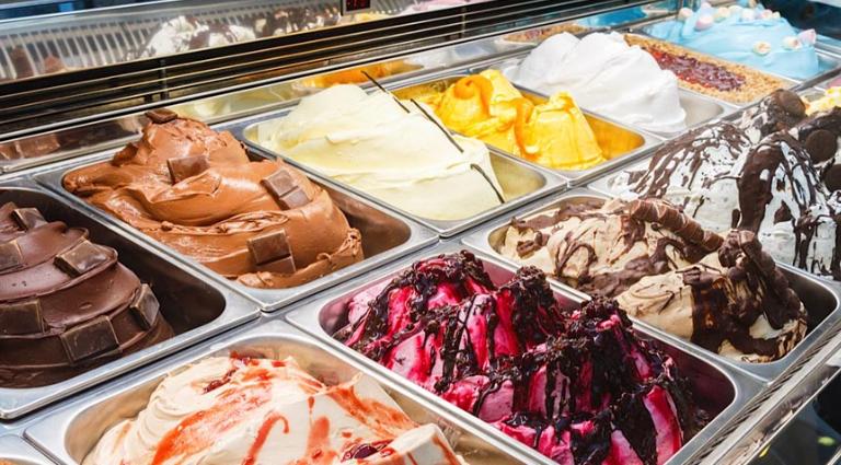 Rangoli Ice - Cream Background