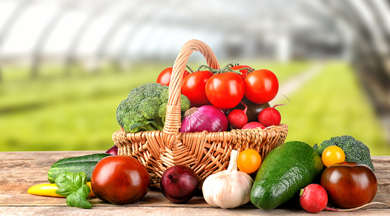 Farmox Vegetables And Fruits Background