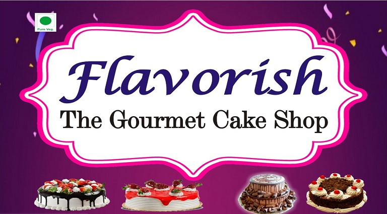 Flavorish The Gourmet Cake Shop Background