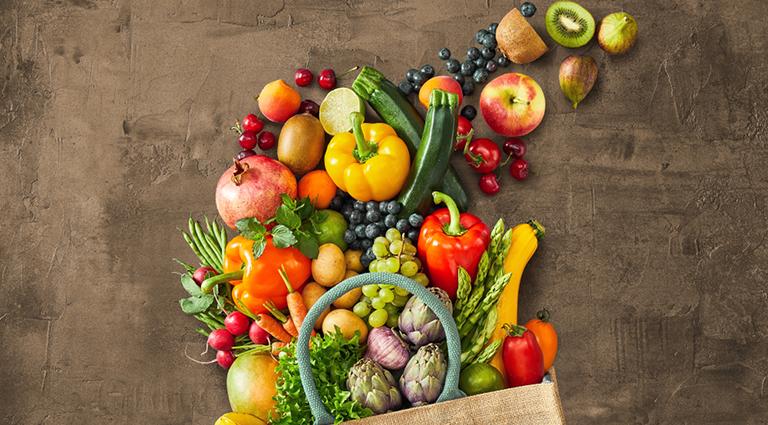 Tejas Green Vegetables & Fruits Background