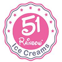 51 Rainbow Ice cream & Fast Food Logo