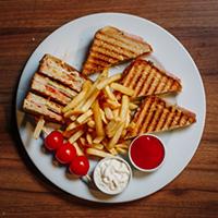 The Sandwich & Fast Food Logo