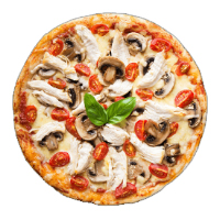 Mozzarella Pizza Hub Logo