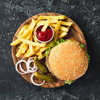 Let's Talk Burger Logo