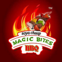 Magic Bites Soya Chaap Pure Veg Barbeque Logo