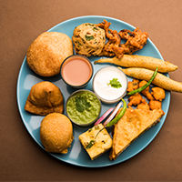 A Taste Of Indore - Fun Food Logo