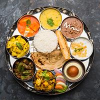 Nimantran Gujarati Thali Restaurant Logo