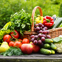 Famous Fresh Vegetables & Fruits Shop Logo