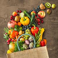 Green Fresh Fruit & Vegetable Logo
