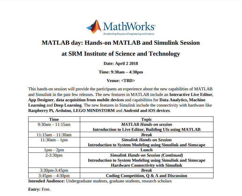 WisOpt Events | MATLAB Day Hands-on MATLAB and Simulink Session