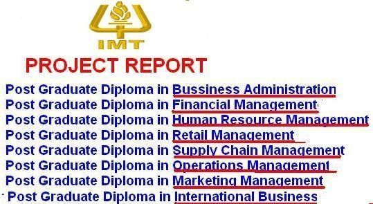 Get Imt Mba Project Reports Books Delhi