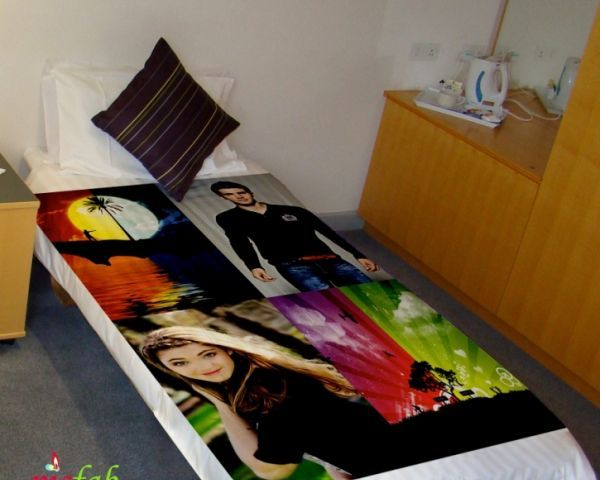Negotiable Ideas To Make Your Bedroom Beautiful With Photo Printed Single Bed  Sheets By Picfab India