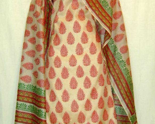 a2fc345245 TUSSAR SILK BLOCK PRINTED SALWAR KAMEEZ DRESS MATERIAL Women ...