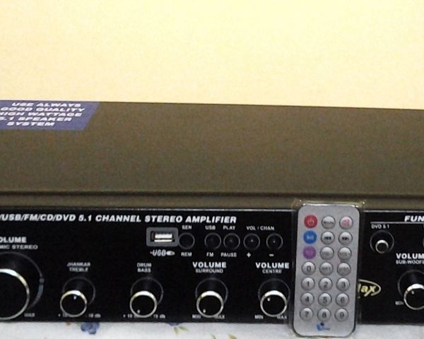 Home Theatre 5 in 1 Amplifier Sale Rs 3000 - only 1 year warranty